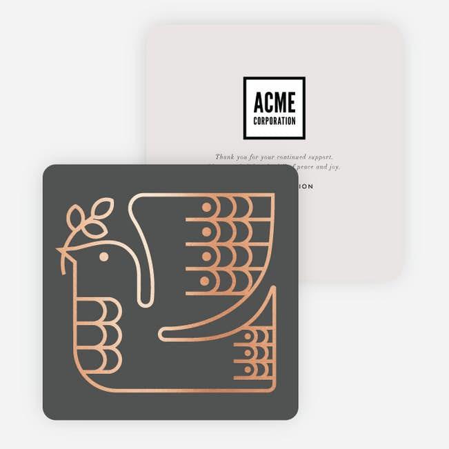 Foil peace dove business and corporate holiday cards paper culture foil peace dove main colourmoves