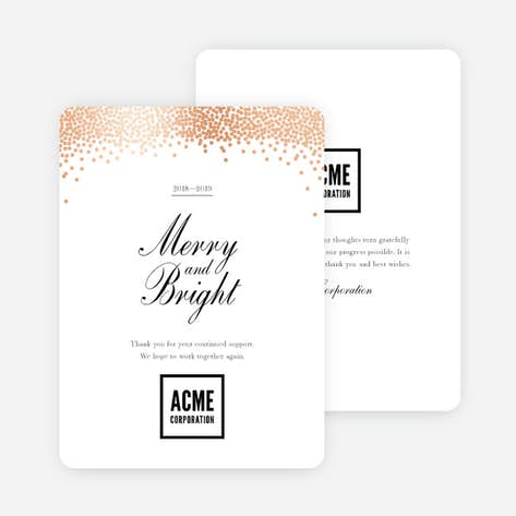 Business holiday cards corporate holiday cards paper culture foil snow header business and corporate holiday cards pink m4hsunfo
