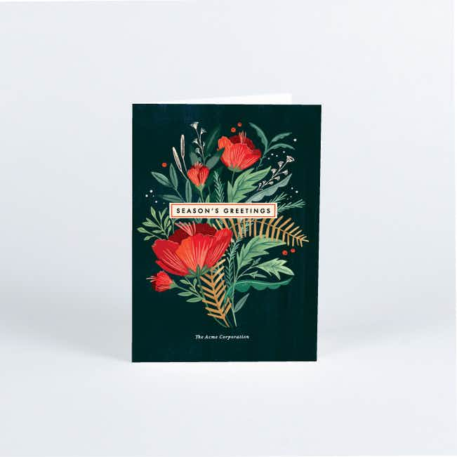 Holiday Bouquet Business and Corporate Holiday Cards - Multi
