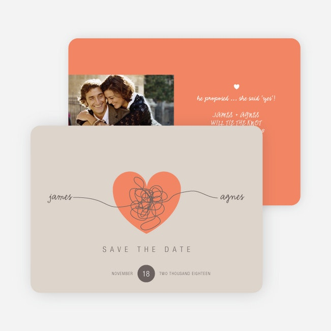 Tying The Knot Save The Date Cards Paper Culture