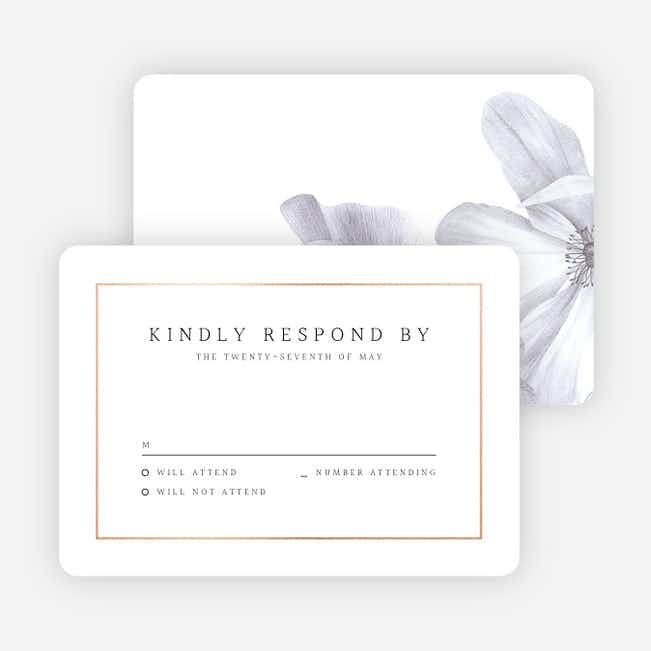 Modern Meets Vintage Wedding Response Cards - Pink