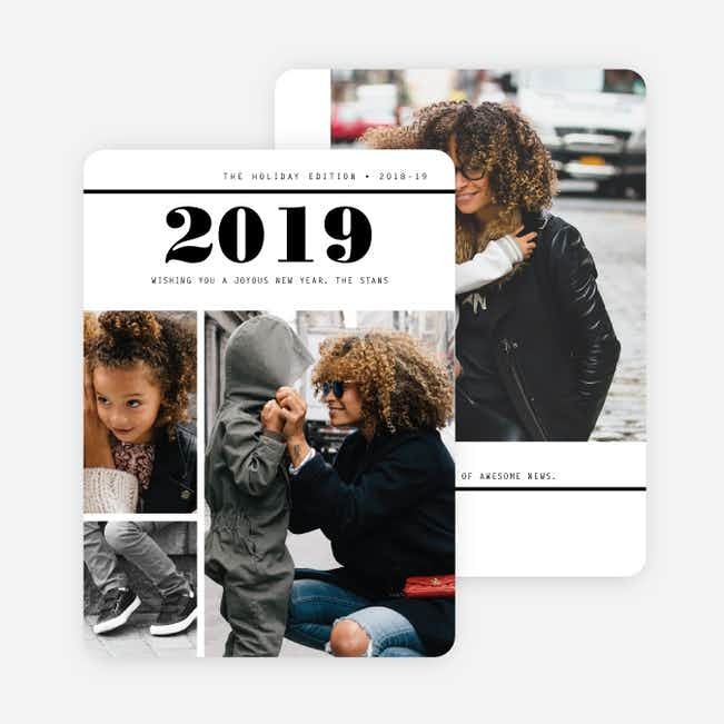 Newsworthy Photo Holiday Cards - Black