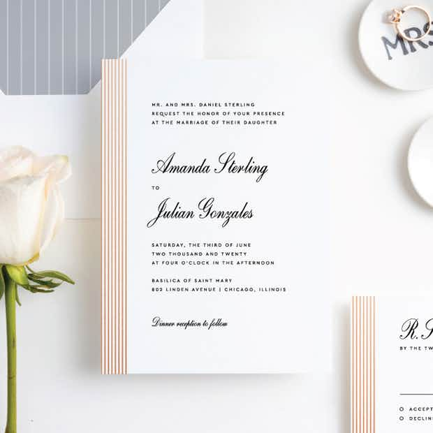 Foil Sidebar Wedding - Main
