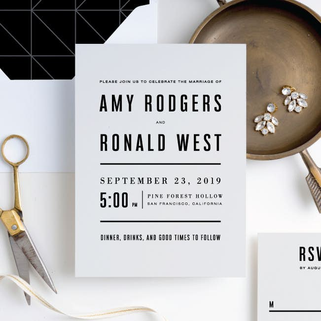 Modern Times Wedding Invitation Suites Paper Culture