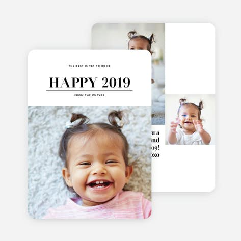 best is yet to come new years photo cards black