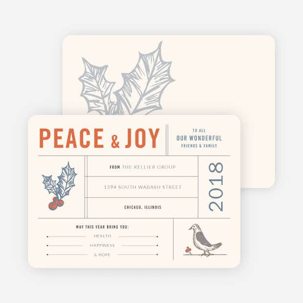 Holly, Peace & Joy - Main