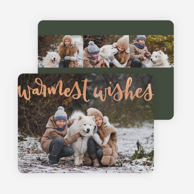 Warm Wishes Holiday Cards - Green
