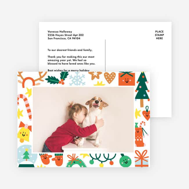 Holiday Friends Christmas Photo Cards & Holiday Photo Cards - Red