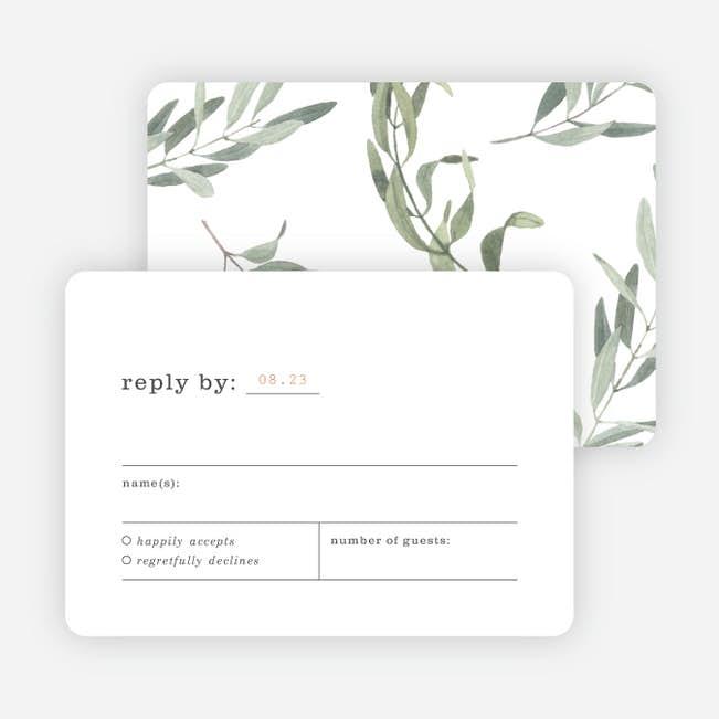Wedding Response Cards.Olive You