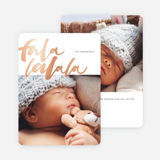 Foil Falala Christmas Cards
