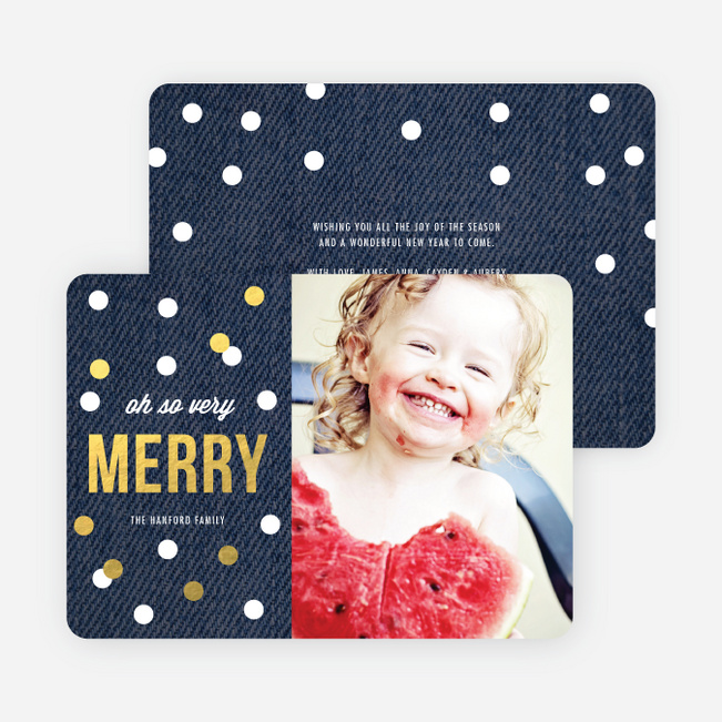 Foil Holiday Card Of Circles: Confetti, Ornaments Or Snow