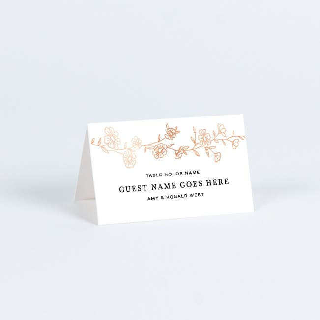Wedding Place Cards.Elegant Roses