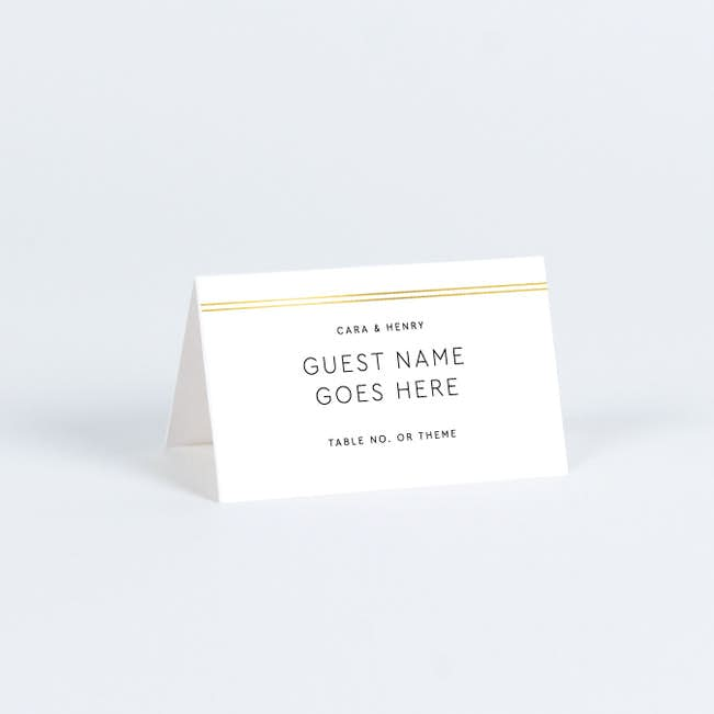 Wedding Name Cards.Foil You Me Wedding