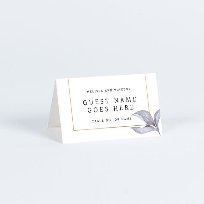 Wedding Name Cards.Modern Meets Vintage