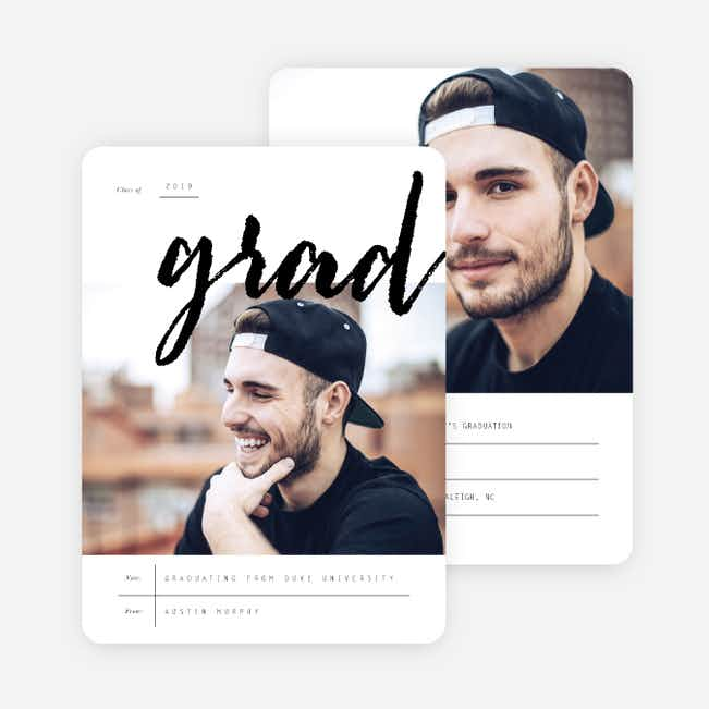 Huge Milestone Graduation Invitations - Black