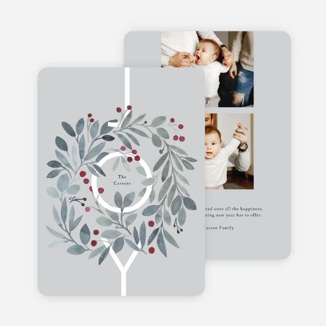 joyous wreath christmas cards paper culture a joyous wreath