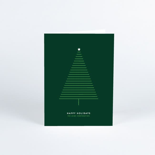 Business Christmas Cards.Modern Holiday Tree