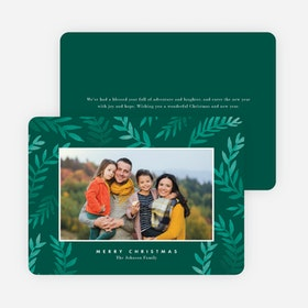 Nature Frame Christmas Cards - Green