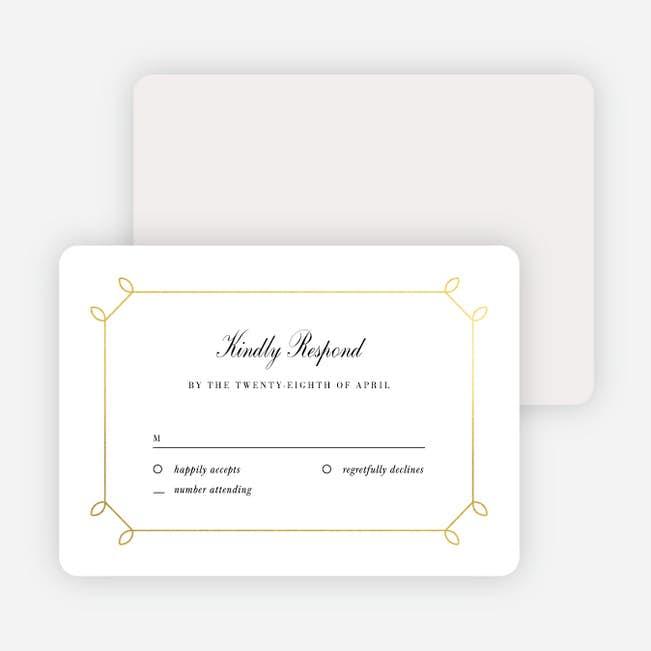 Wedding Response Cards.Foil Elegant Scroll