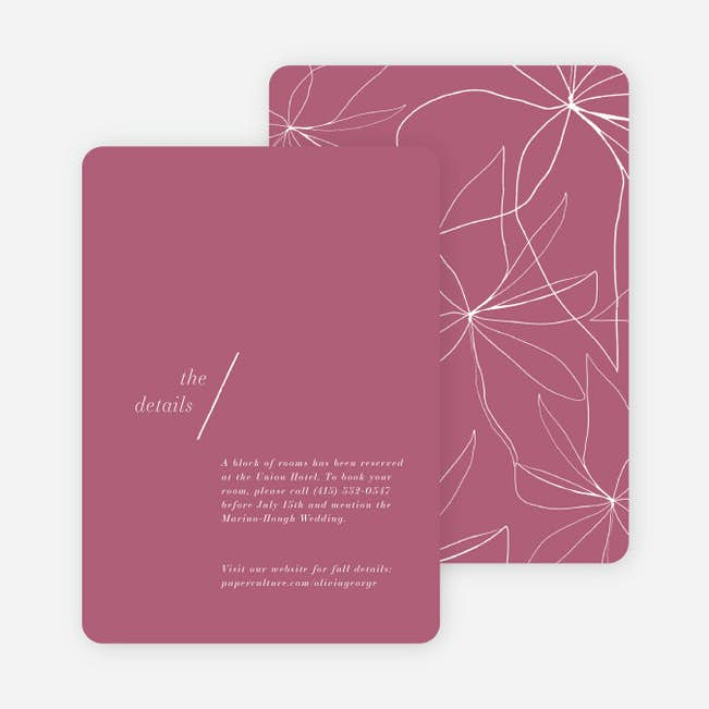 Delicate Details Wedding Invitations Paper Culture