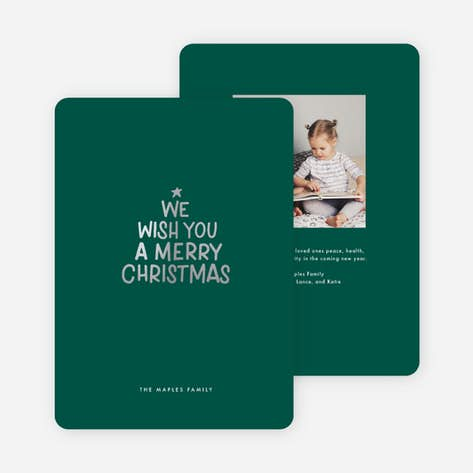 Christmas Green.Christmas Cards Paper Culture