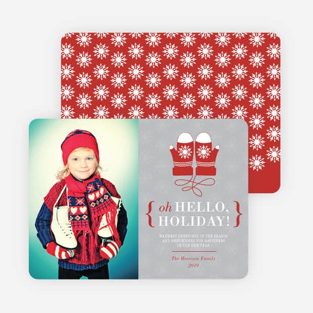 Hello Holiday Mittens - Main