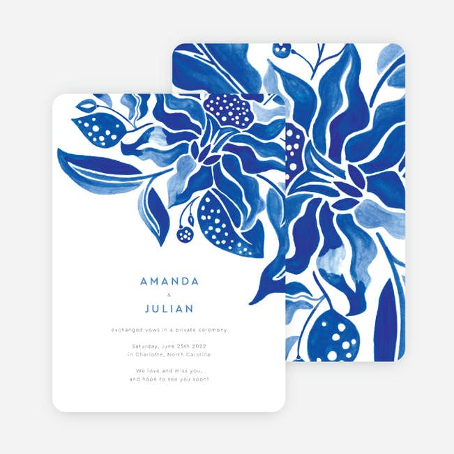Beautiful Botanicals Wedding Announcements Paper Culture
