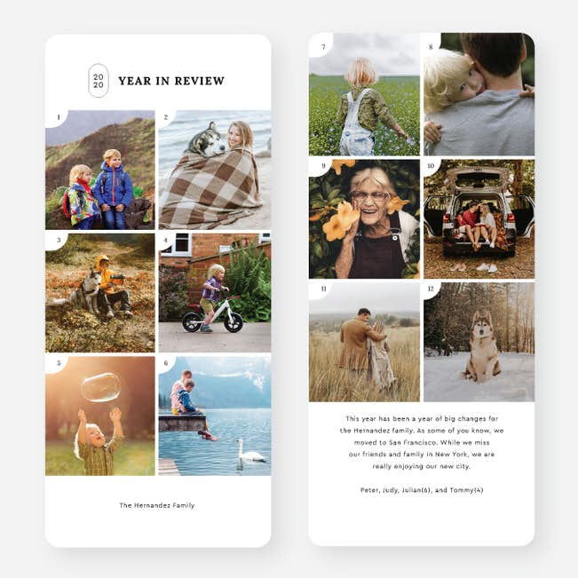 Look Back Multi Photo Holiday Cards